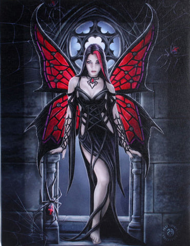 WP757AS-Arachnafaria Canvas Art Print by Anne Stokes-Canvas Art Prints-Enchanted Jewelry & Gifts