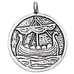 TVP01-Roving Longboat for Protection on the Sea of Life (Trove of Valhalla) at Enchanted Jewelry & Gifts