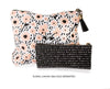 Small Black & White Canvas Pouch - The Pink Orange
