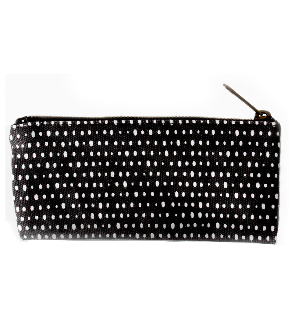Small Black & White Canvas Pouch