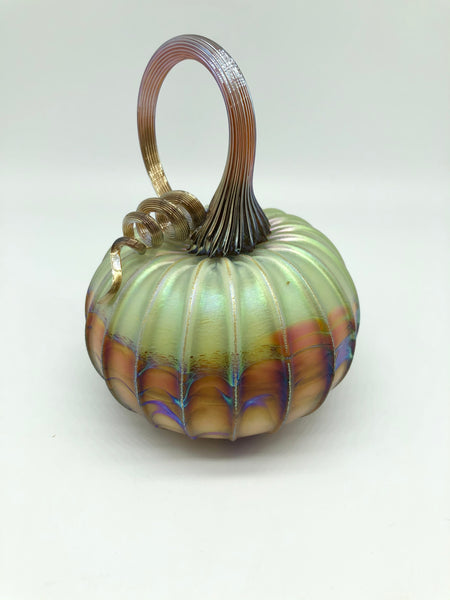 Small Blown Glass Pumpkin