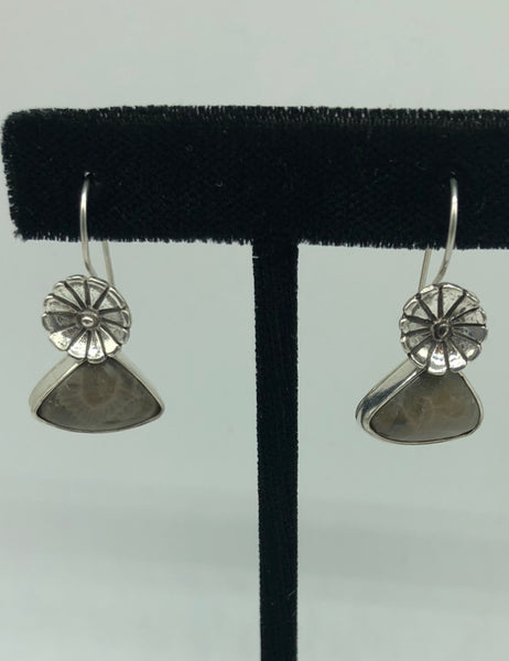 Petoskey Stone Sterling Silver Earrings