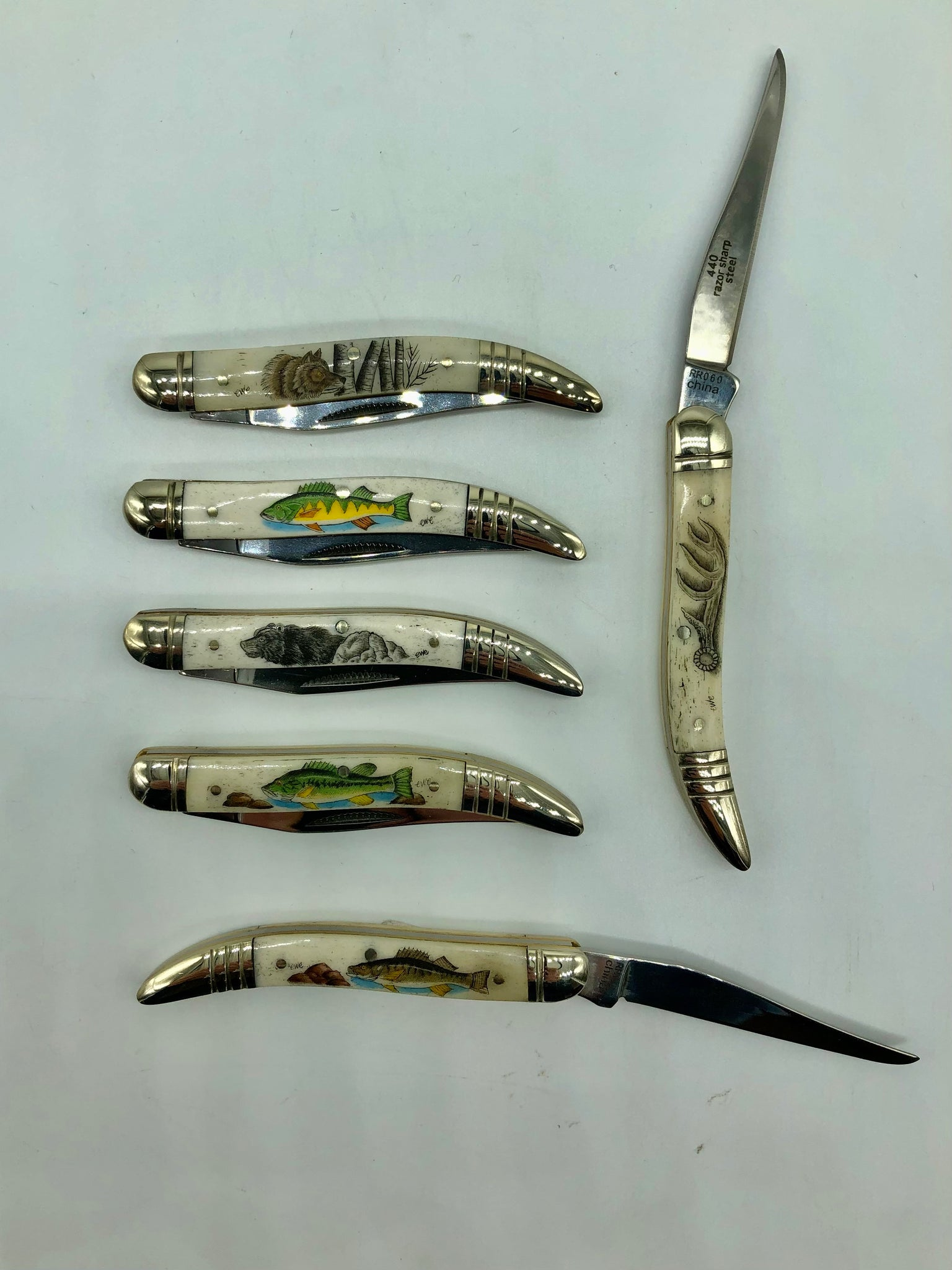 Scrimshaw Bones Tooth Pick Knife