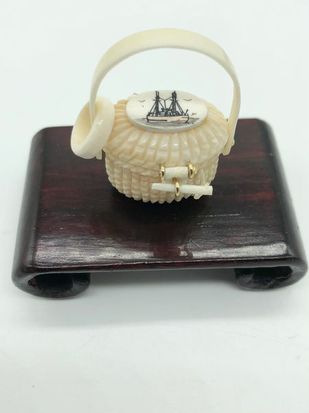 Miniature Hand Carved Nantucket Baskets
