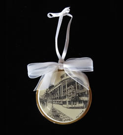 Scrimshaw Ornament - Grand Hotel