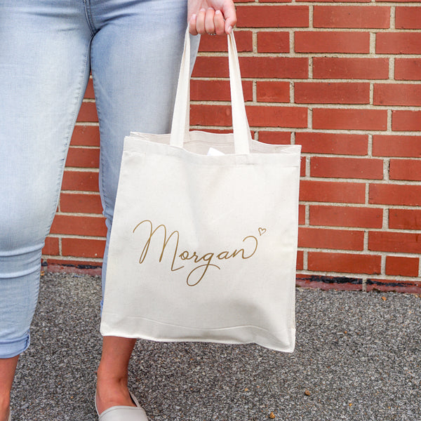 Personalized tote bags for your #bridesmaids #weddingday