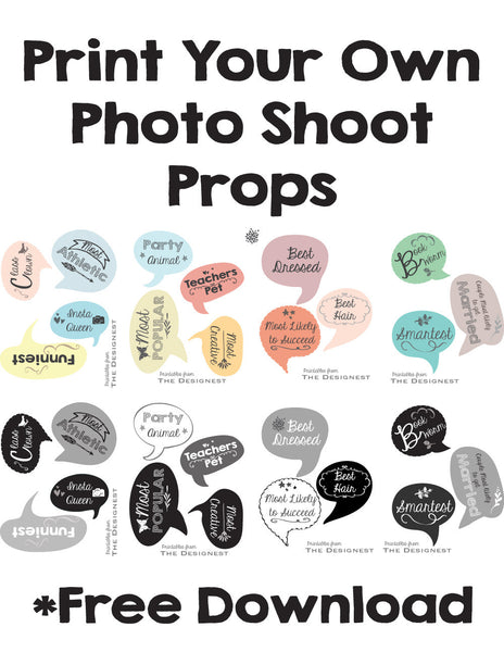 photograph about Free Printable Photo Booth Props Words named Commencement Occasion Photograph Booth Props