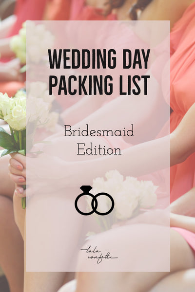 #bridesmaid #weddingday Don't forget to bring these necessities for the big day!