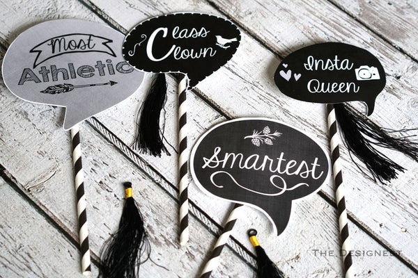 Printable Photo Booth Props for your Graduation Party