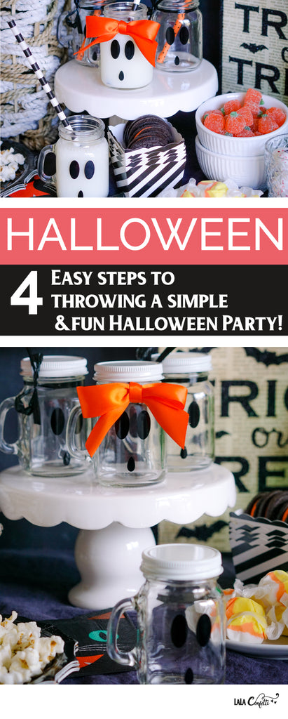 Ready to host a Halloween party? Grab my 4 quick and easy tips to get you started.