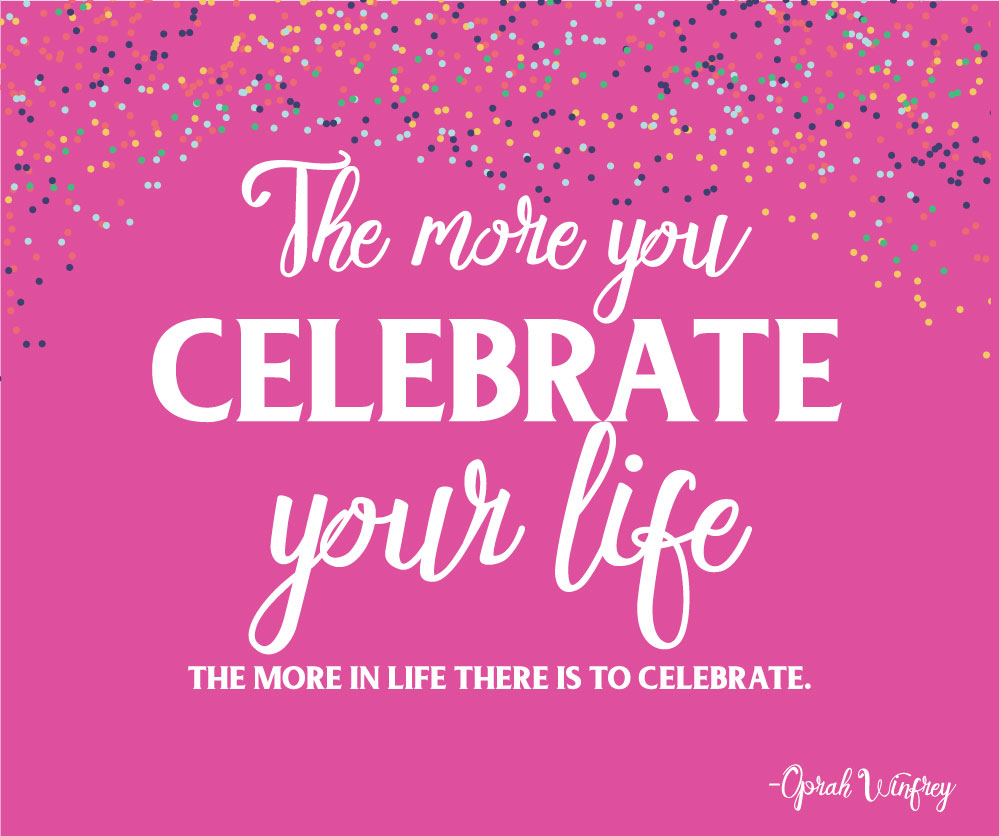 Celebrate Oprah Winfrey Quote