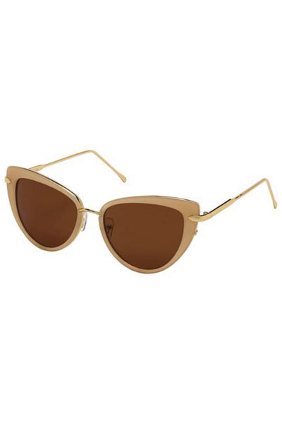 Beige Cat's Eyes Sunglasses