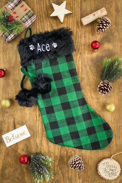 Green & Black Christmas Stockings