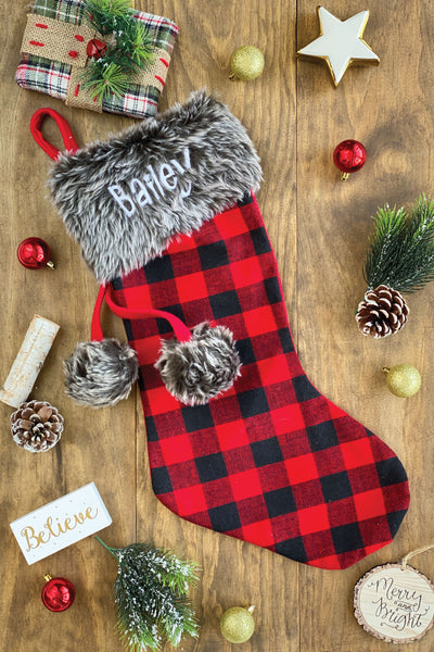 Red & Black Christmas Stockings