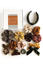Bunch of Scrunchies - Green & Gold Collection