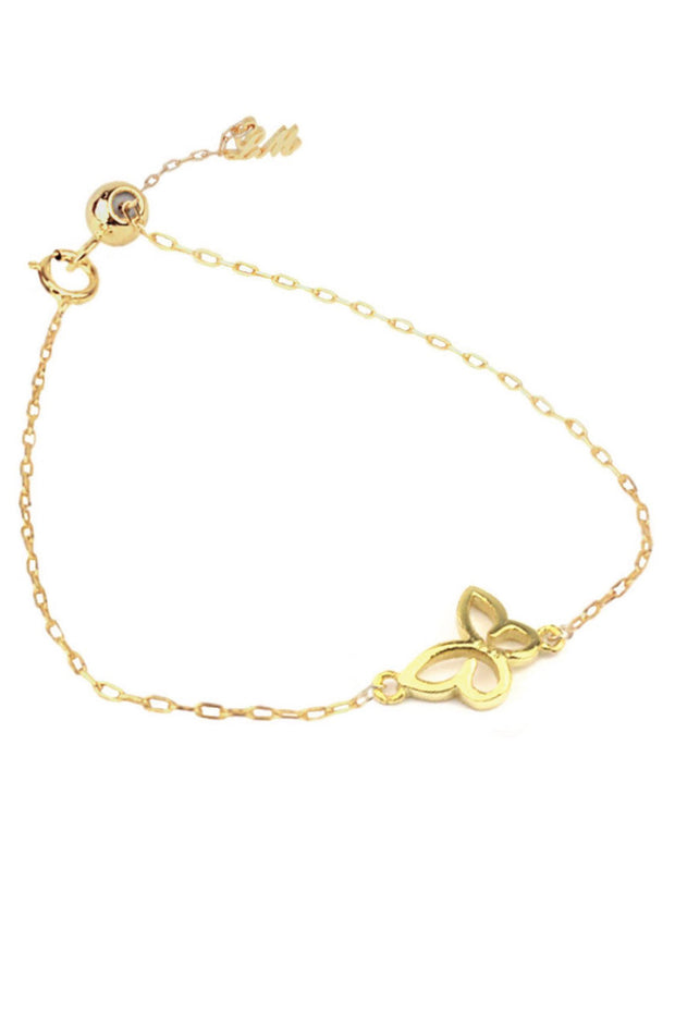 Butterfly Lucky Charm 14K Gold Filled Bracelet