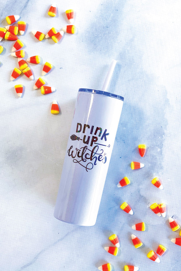 Drink Up Witches Skinny Tumbler