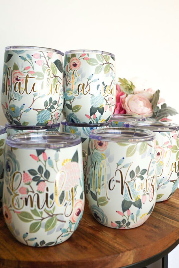 Bridesmaids Wine Tumblers