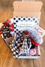 Happy Holidays Gift Box with Bangle Bracelet Wallet