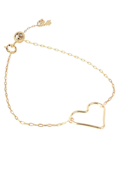 cute gold heart bracelet