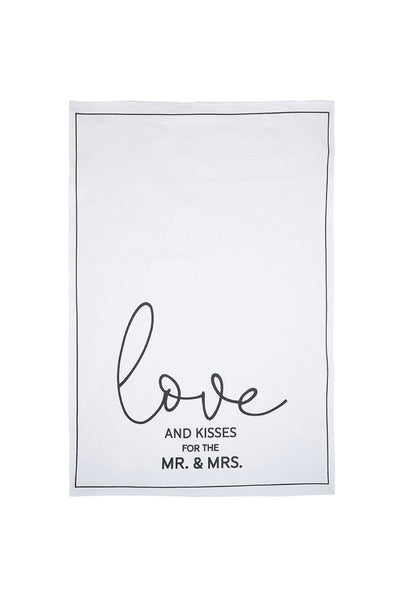 Love and Kisses from the Mr and Mrs Tea Towel