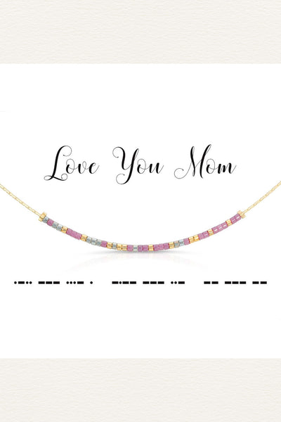 Morse Code Necklace - Love you mom | Gift for Mom