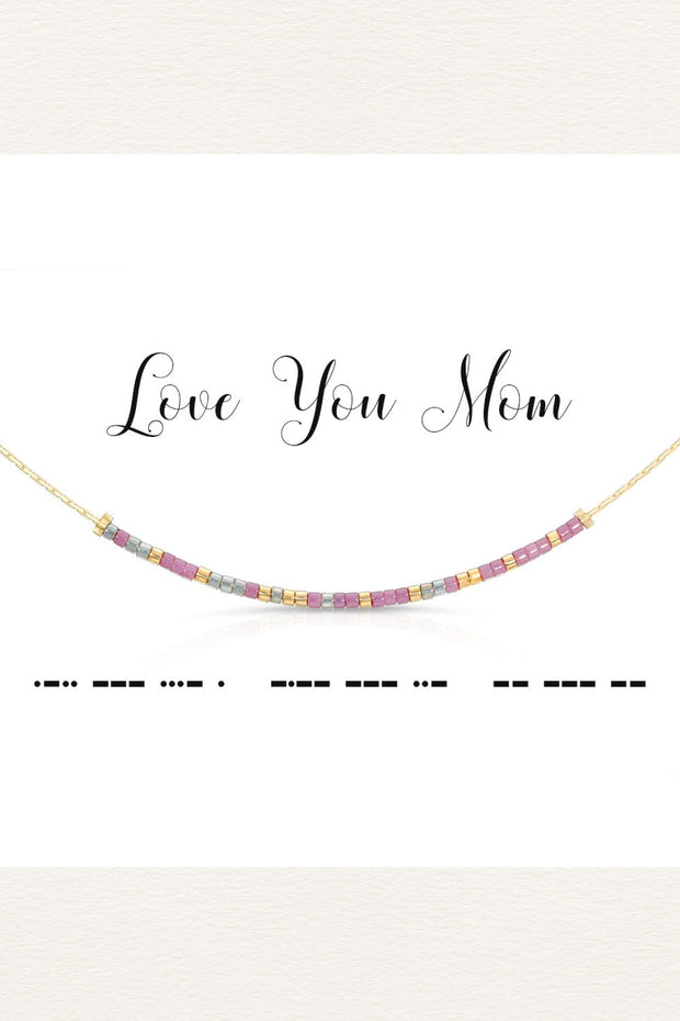 Morse Code Necklace - Love you mom | Mothers day gift