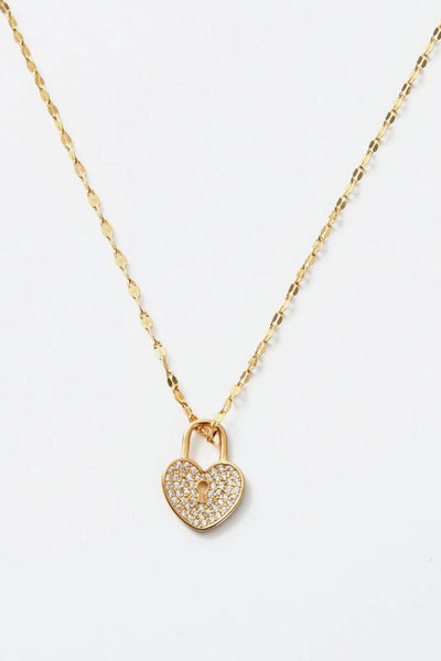 Luna crystal pave heart necklace