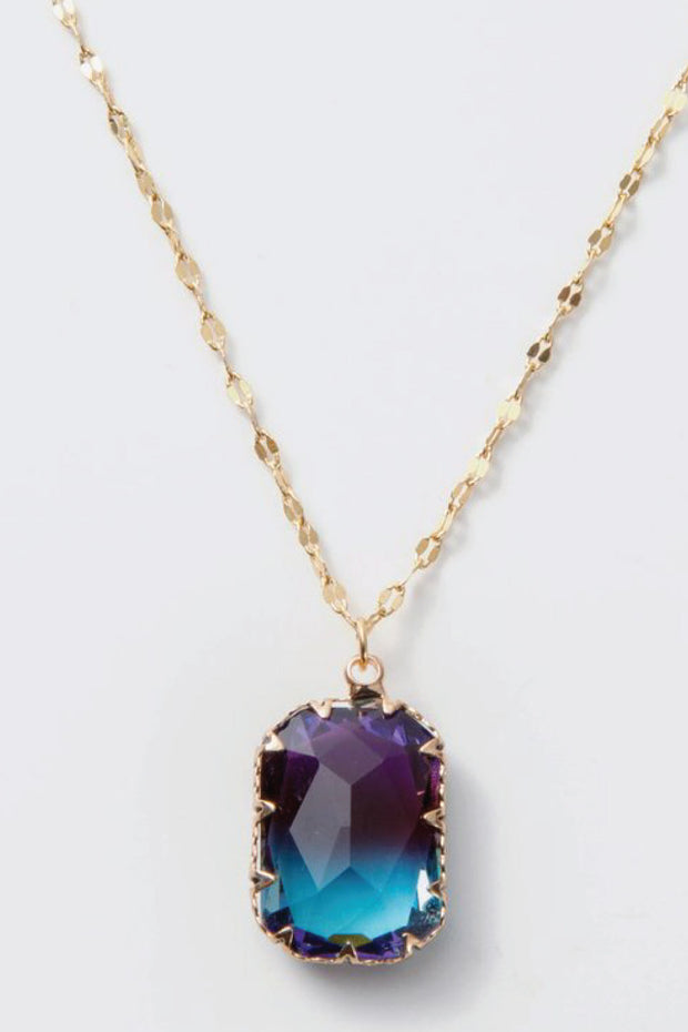 pretty gold and purple necklace