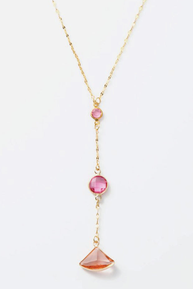 pretty pink and gold necklace