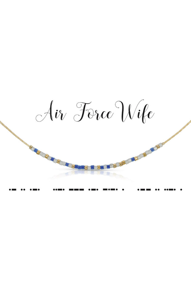 Morse Code Necklace - Air Force Wife
