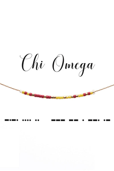 Chi Omega necklace