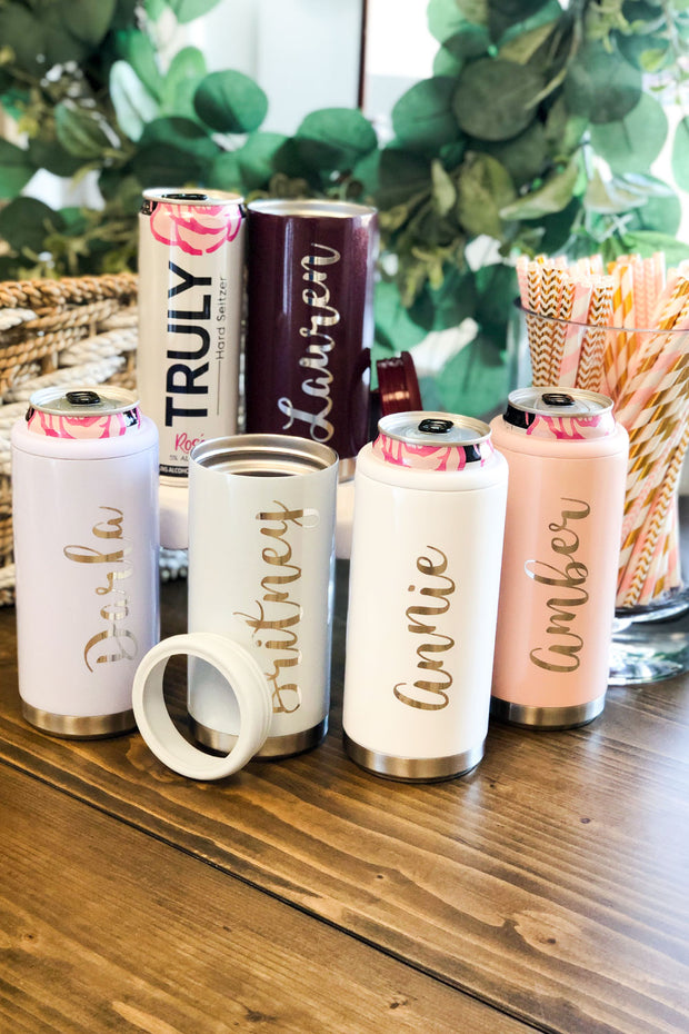 Personalized Slim Can Cooler