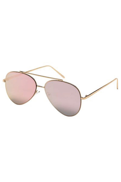 Rose Gold Lens Sunglasses