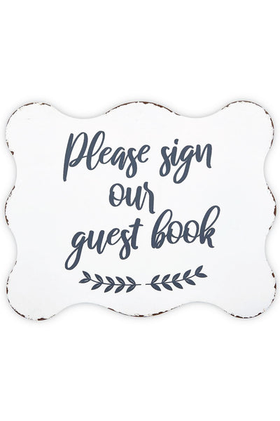 Sign Our Guest Book Table Sign and Wedding Decor