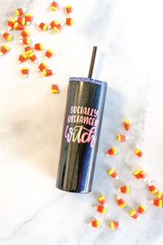 Socially Distanced Witch - Stainless Steel Tumbler