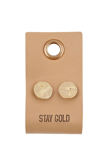 Stay Gold Circle Stud Earrings