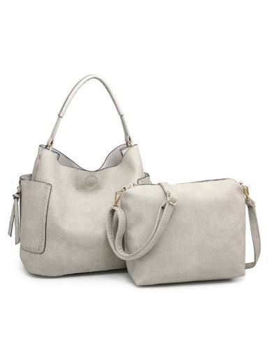Stella Hobo Bag - Light Grey