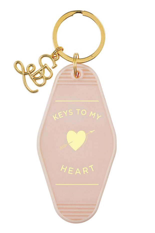 Vintage Dreams Motel Tag Key Chain | Keys to My Heart