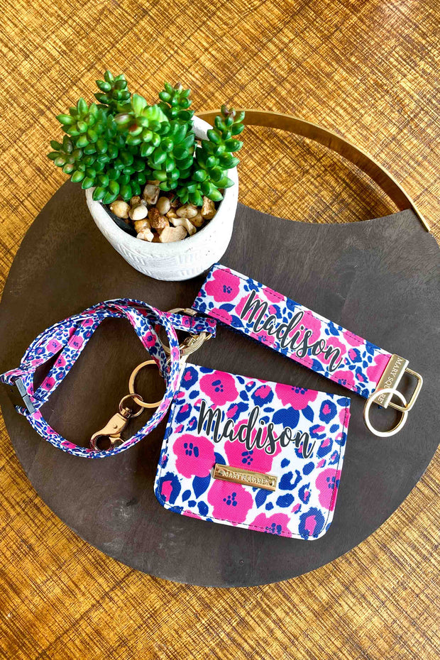 Cute Car Accessories | Keyfob, Lanyard, ID Pouch (Wild Posy)