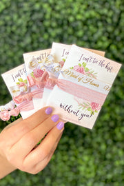 Bridesmaid Hair Ties - Bridal Party Titles