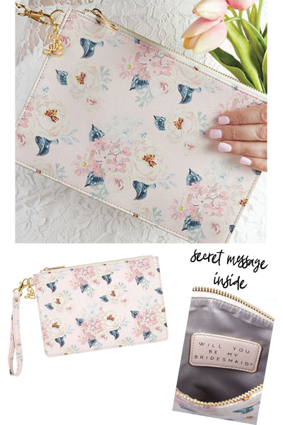 Bridesmaid Proposal Floral Wristlet