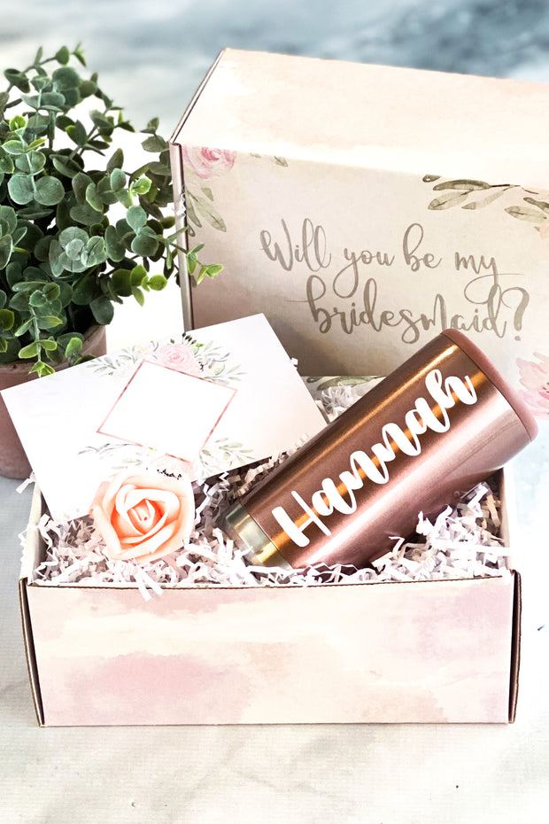 Bridesmaid Proposal Box with Slim Can Holder