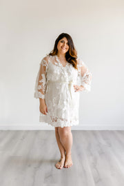 Sheer Lace Bridal Robe