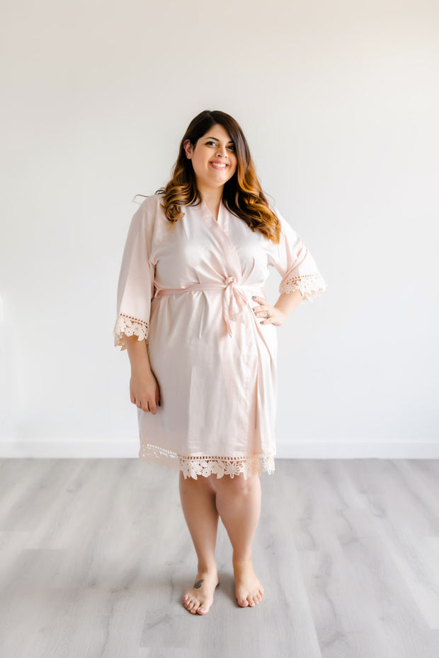 Bridesmaid Robes - Blush
