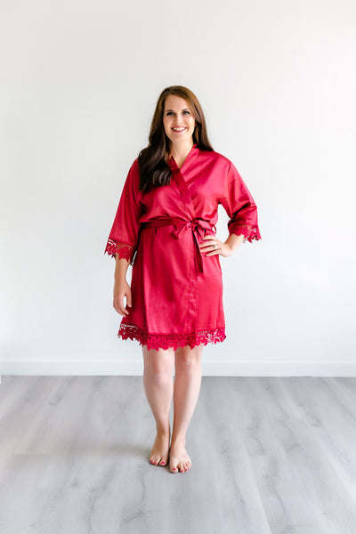 Bridesmaid Robes - Burgundy