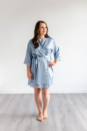 Bridesmaid Robes - Dusty Blue