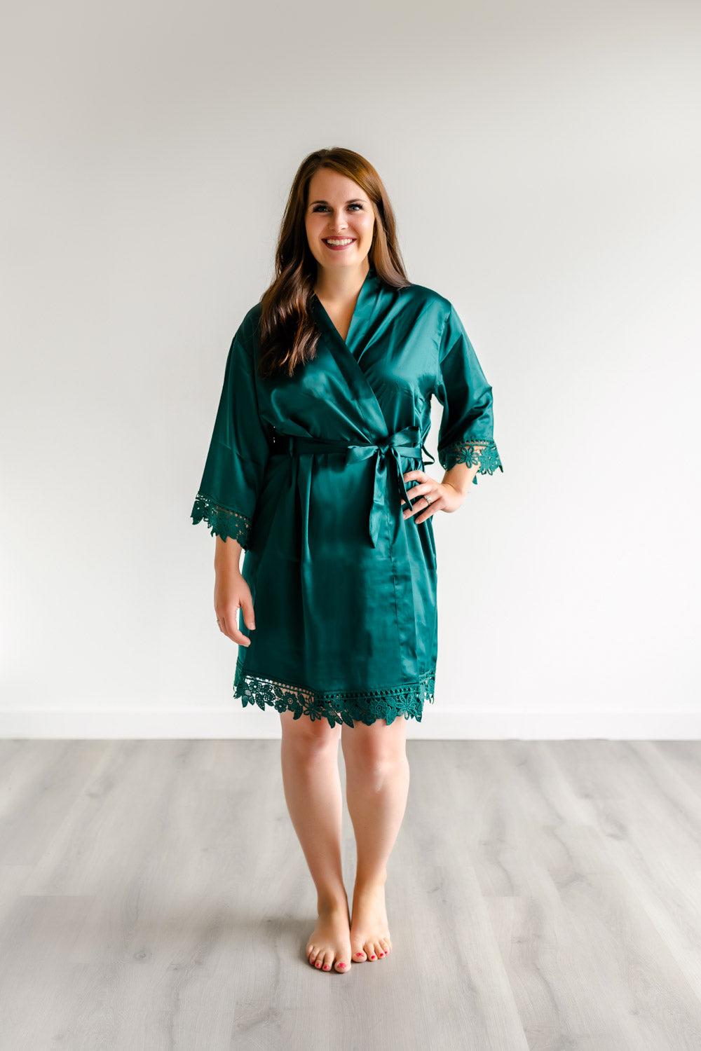 Bridesmaid Robes Forest Green
