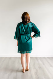 Bridesmaid Robes - Forest Green