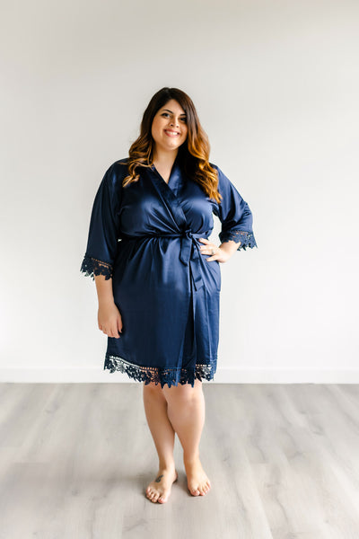 Bridesmaid Robes - Navy